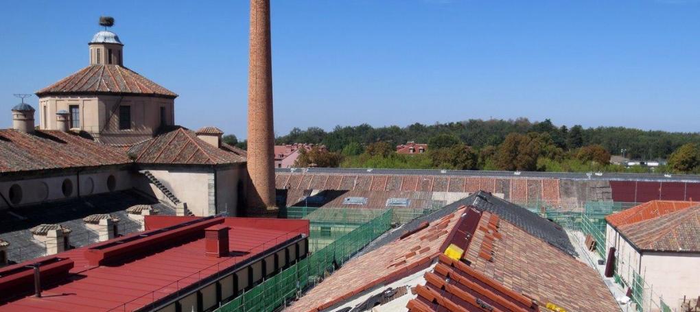 Rehabilitación cubierta e impermeabiliación tejado fábrica cristales La Granja