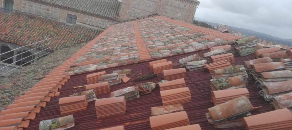 Rehabilitación cubierta e impermeabiliación tejado monasterio santo tomas avila