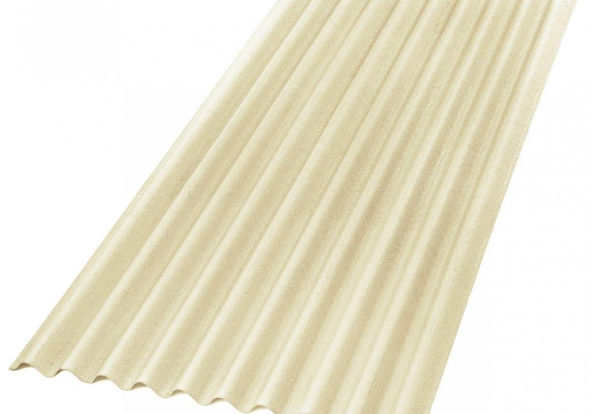 Placa asfáltica ondulada impermeable ONDUCOBER marfil