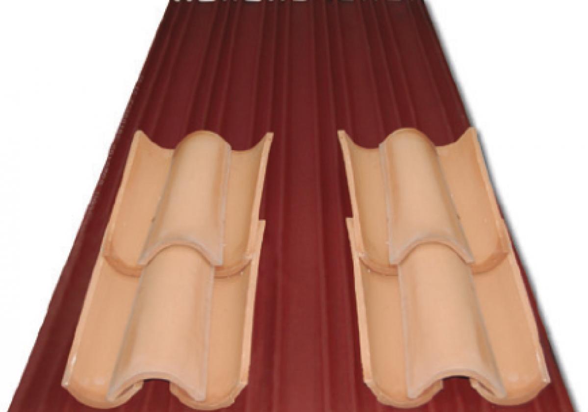 Placa asfáltica ondulada impermeable Onduline Bajo Teja DRS BT-200