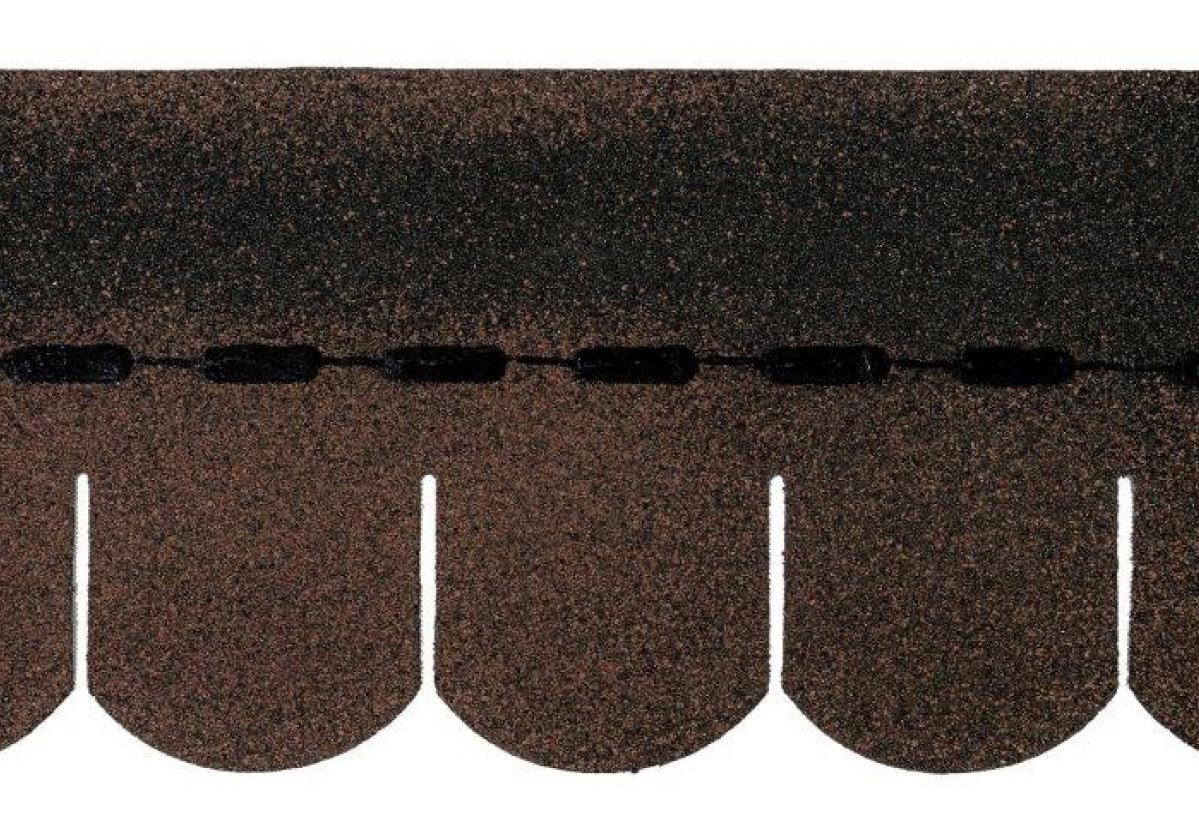 Tegola americana asfáltica BARDOLINE oval marrón
