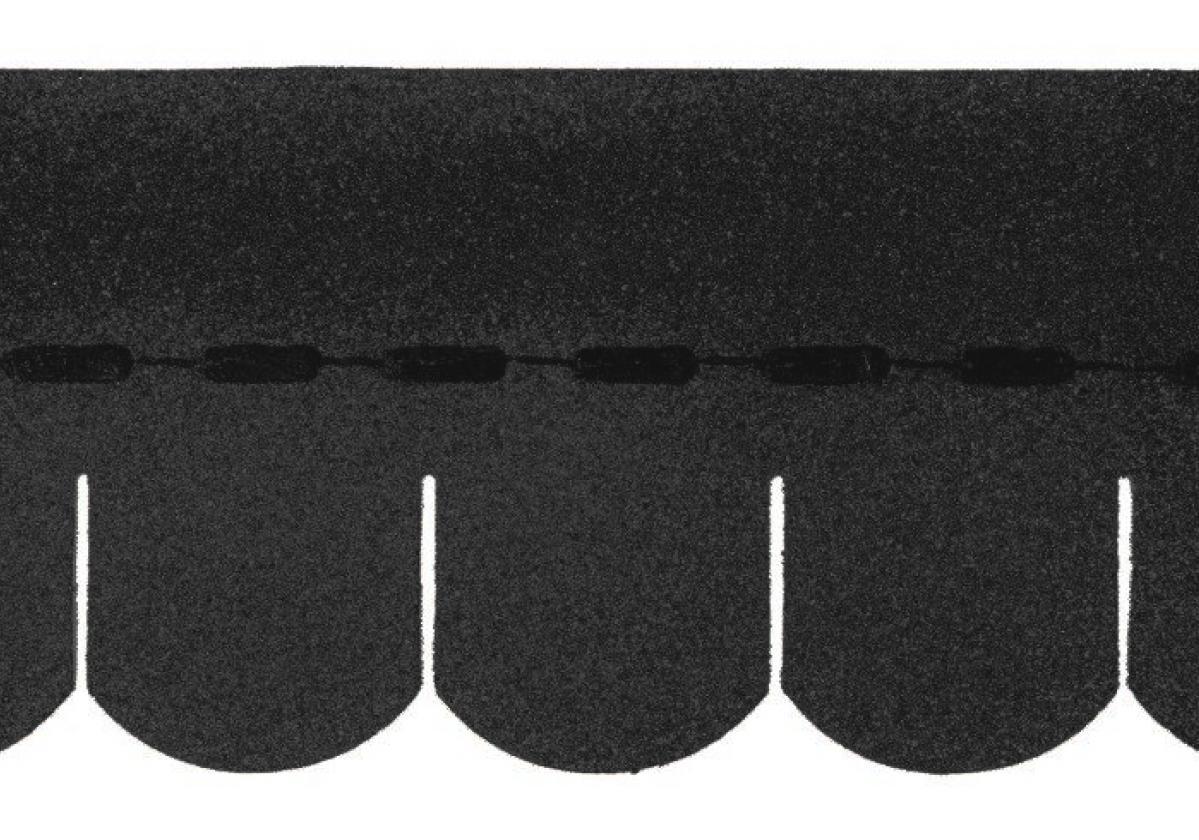 Tegola americana asfáltica BARDOLINE oval negro