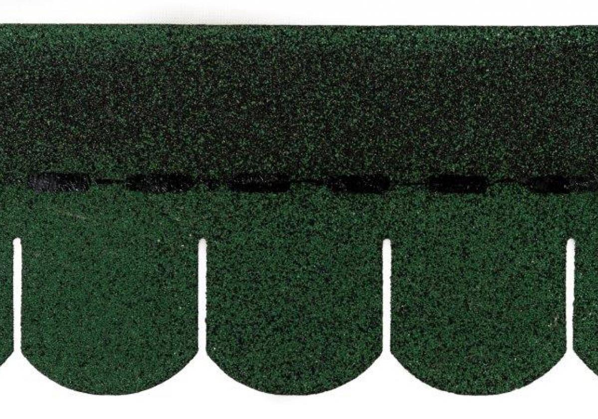 Tegola americana asfáltica BARDOLINE oval verde
