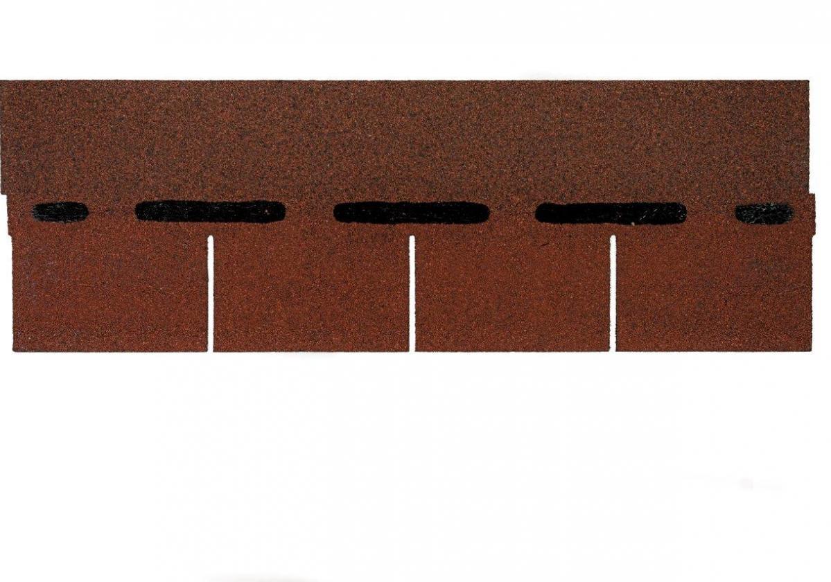 Tegola americana asfáltica BARDOLINE rectangular rojo