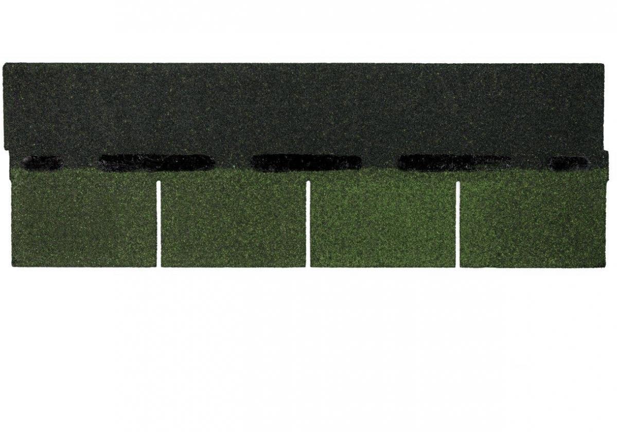Tegola americana asfáltica BARDOLINE rectangular verde