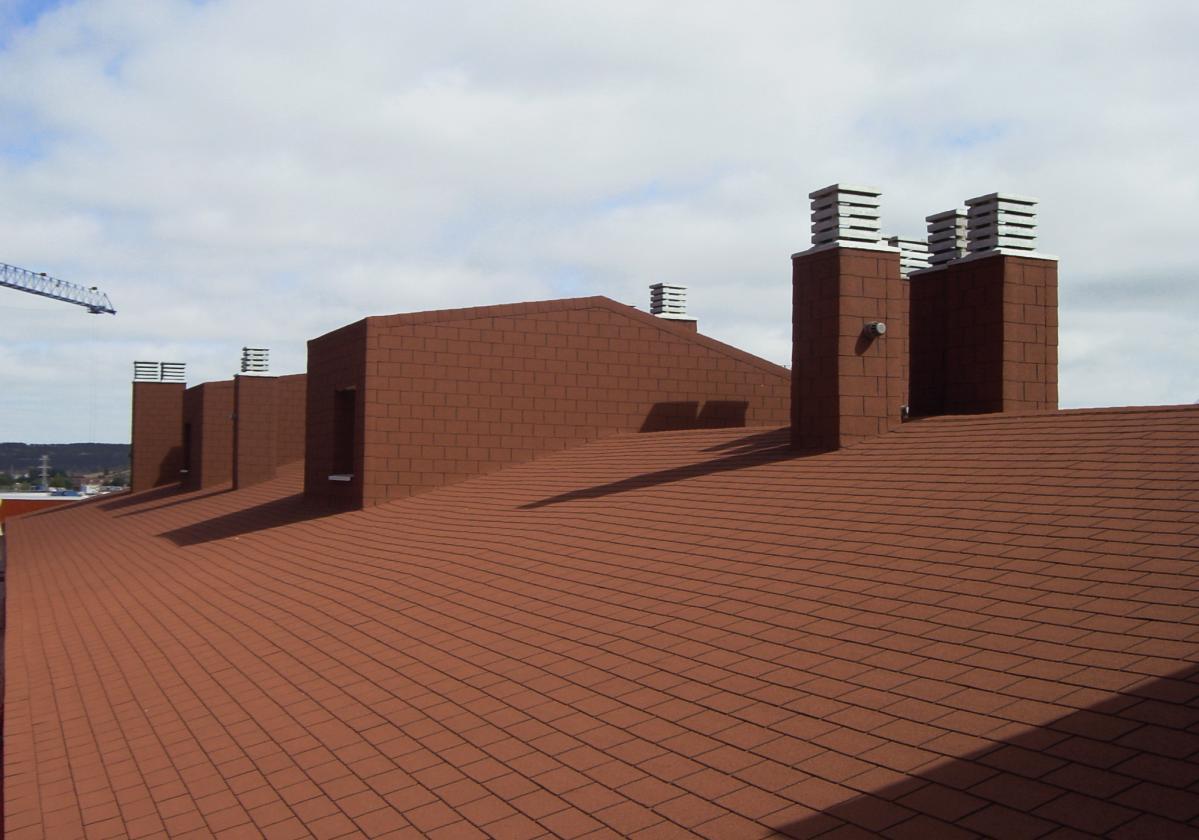Tegola americana asfáltica BARDOLINE impermeabilización de cubierta rectangular marrón