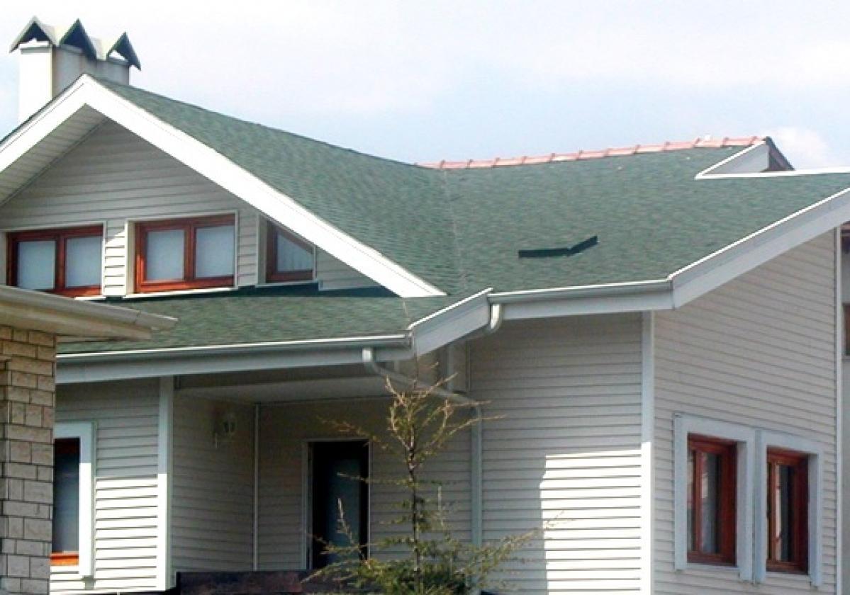 Tegola americana asfáltica BARDOLINE impermeabilización de cubierta rectangular verde