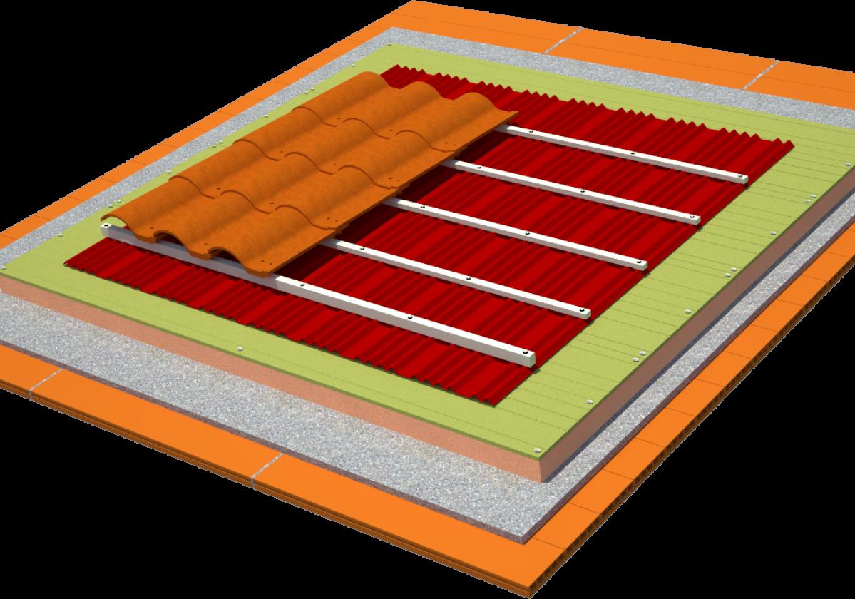 Sistema SIATE: Impermeabilización y Aislamiento de Tejado de teja curva y forjado cerámico