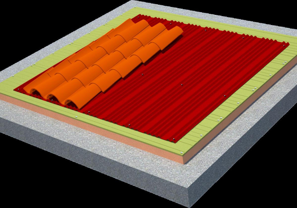 Solución completa aislamiento tejado teja curva: SIATE Onduline