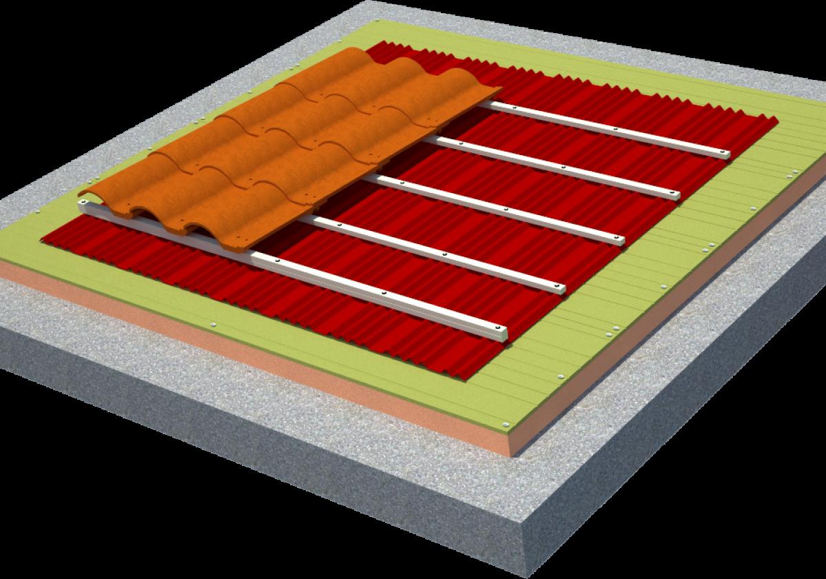 Solución completa aislamiento tejado teja mixta: SIATE Onduline