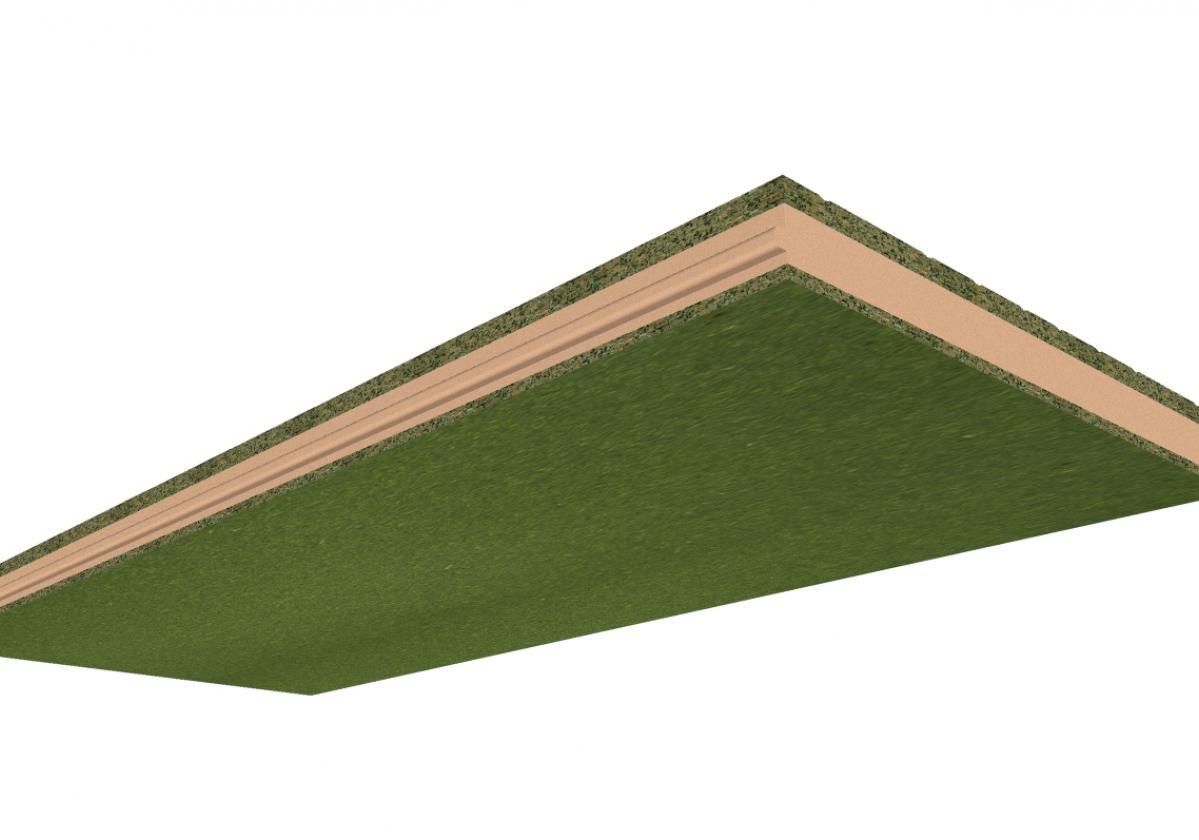 Panel Sandwich Madera ONDUTHERM: Aglomerado Hidrófugo