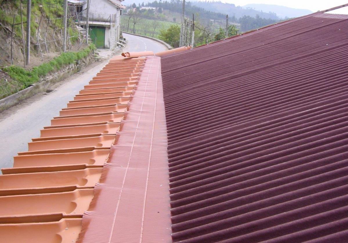 Cinta metálica impermeable sellado cubierta METALFILM - Impermeabilización Tejado detalle alero teja plana