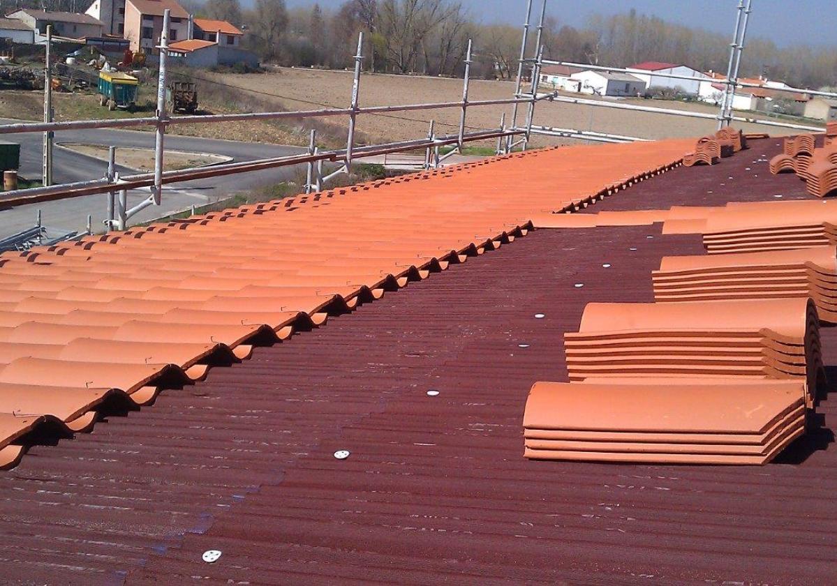 Clavo nylon fijación placa asfáltica Onduline Bajo Teja cubierta soporte cerámico - detalle instalación tejado