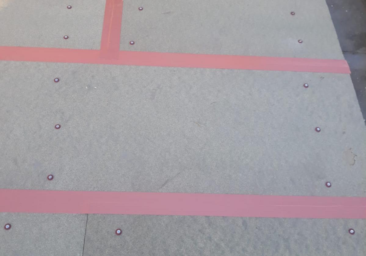 Clavo taco Onduline fijación panel sandwich madera cubierta forjado hormigón - detalle fijación panel SIATE