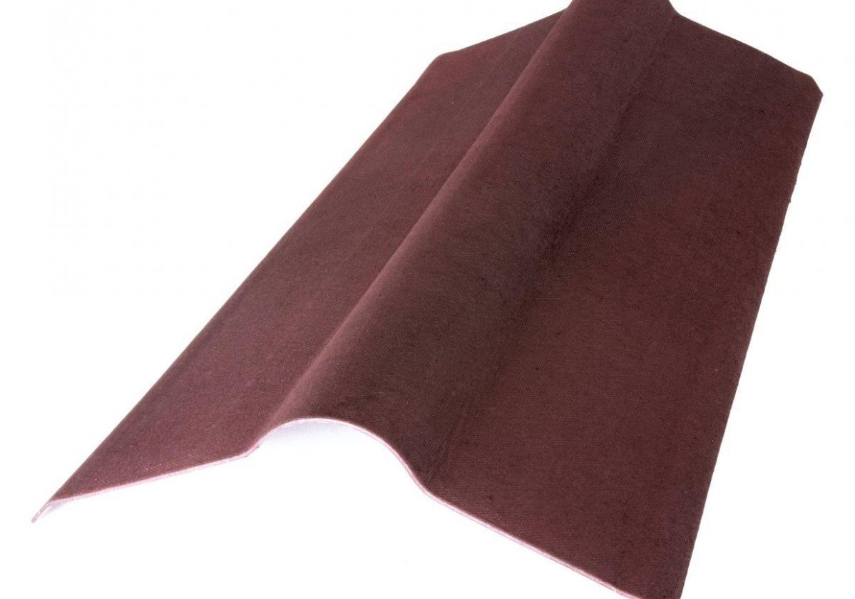 Cumbrera estándar teja asfáltica ligera ONDUVILLA pieza remate cumbrera color rojo