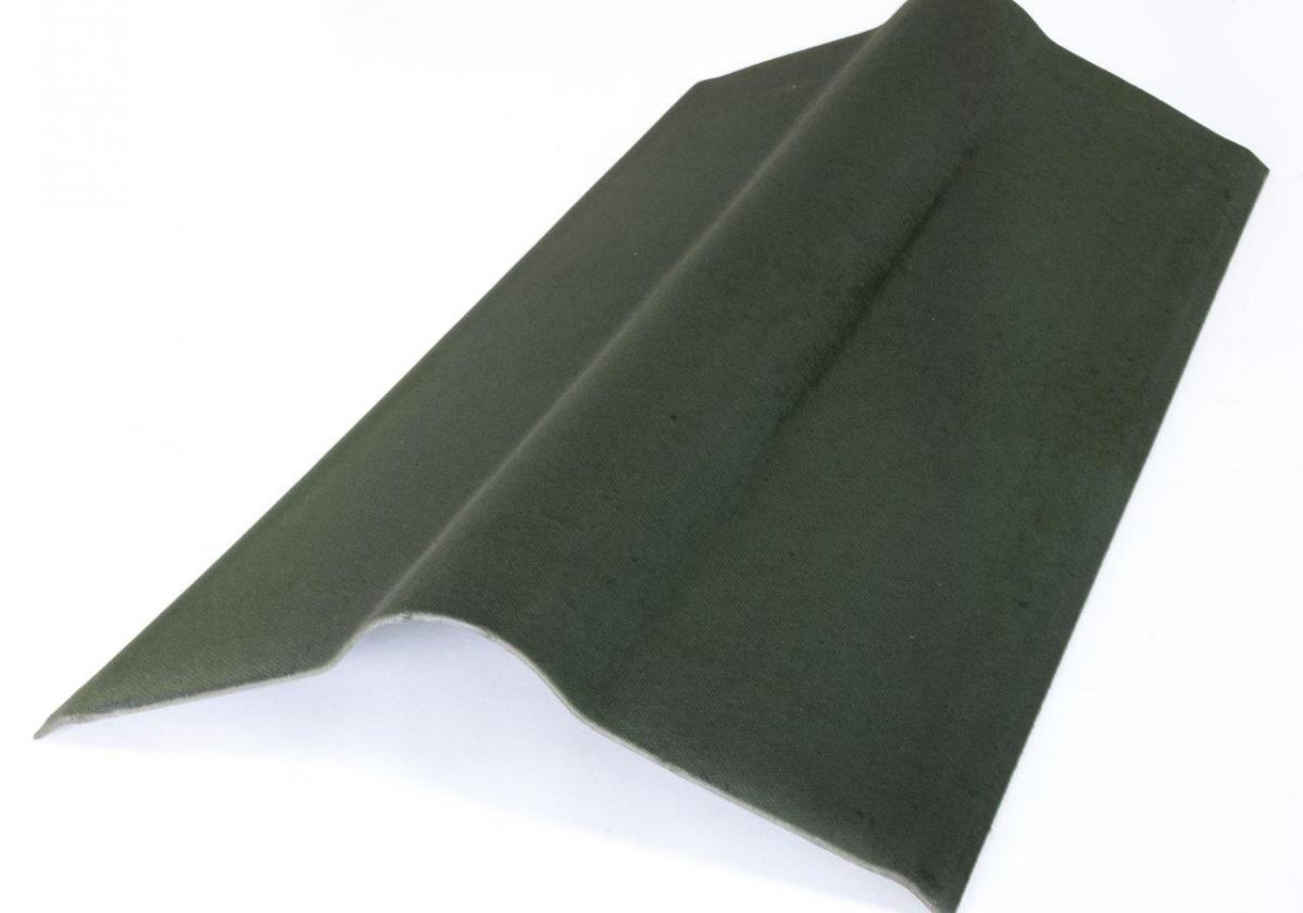 Cumbrera estándar teja asfáltica ligera ONDUVILLA pieza remate cumbrera color verde