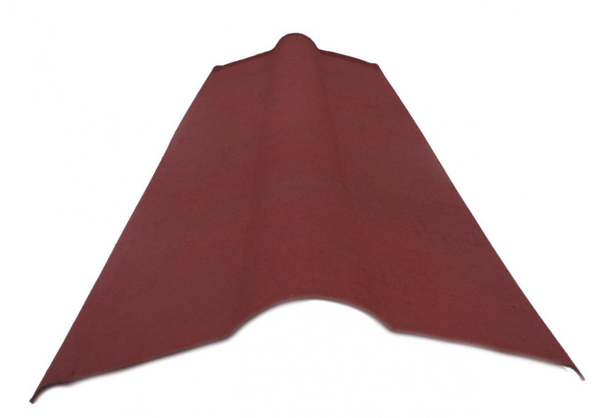 Cumbrera placa asfáltica ondulada imitación teja ONDULINE TILE - detalle pieza cumbrera asfáltica frente