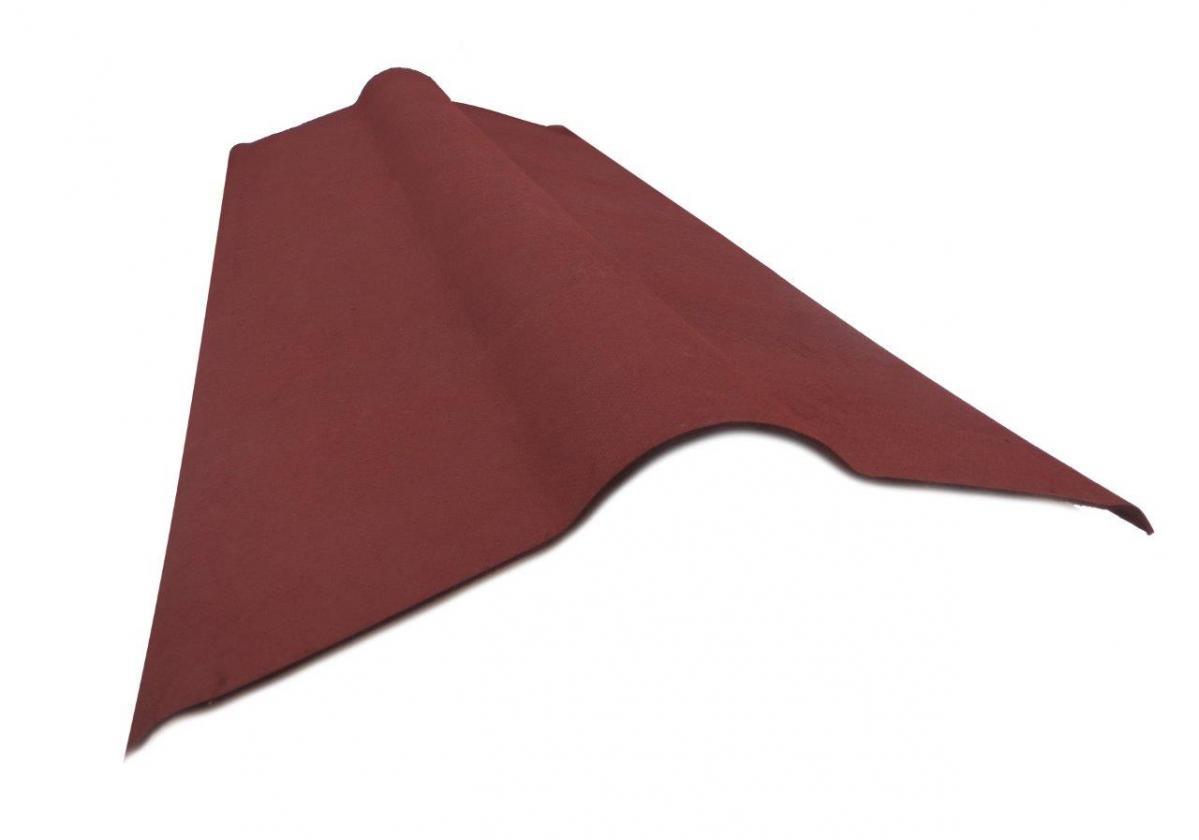 Cumbrera placa asfáltica ondulada imitación teja ONDULINE TILE - detalle pieza cumbrera asfáltica lateral