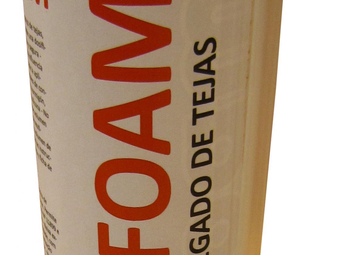 Espuma poliuretano pegado tejas ONDUFOAM - detalle bote cánula