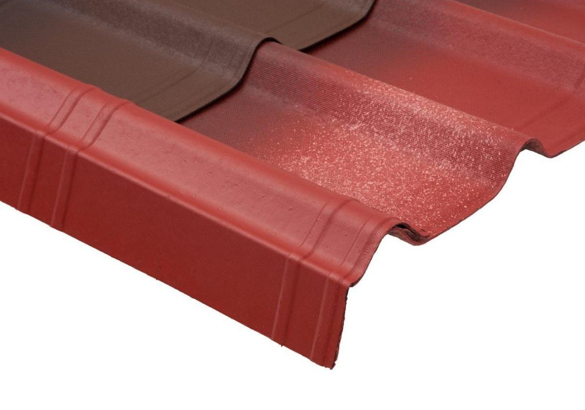 Remate lateral teja asfáltica ligera ONDUVILLA - detalle colocación sobre teja color rojo
