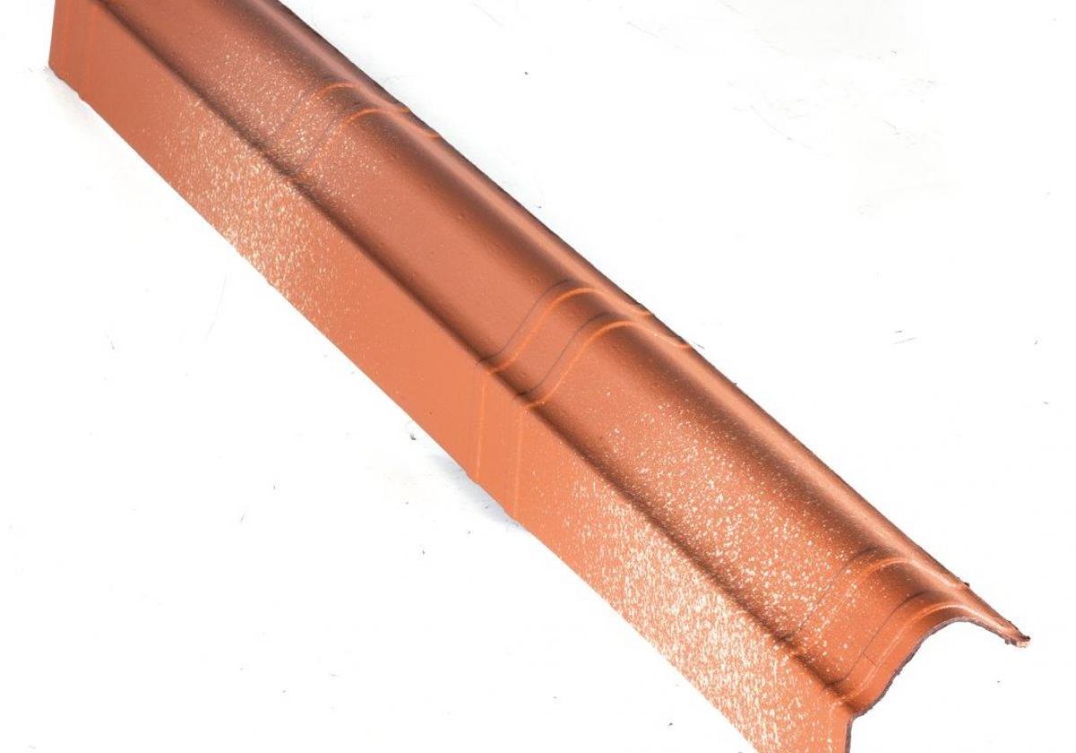 Remate lateral teja asfáltica ligera ONDUVILLA - detalle pieza remate lateral color fiorentino