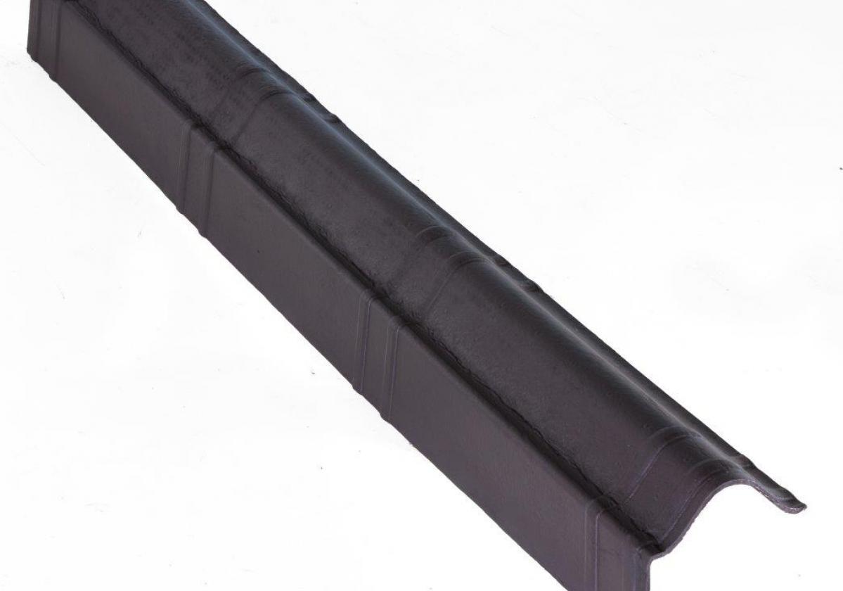 Remate lateral teja asfáltica ligera ONDUVILLA - detalle pieza remate lateral color negro