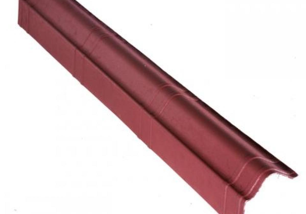 Remate lateral teja asfáltica ligera ONDUVILLA - detalle remate lateral color rojo