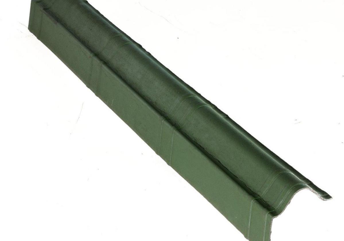 Remate lateral teja asfáltica ligera ONDUVILLA - detalle pieza remate lateral color verde