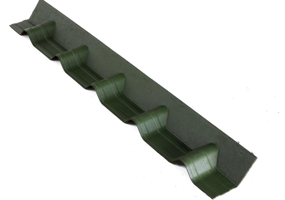 Remate pendiente teja asfáltica ligera ONDUVILLA - detalle pieza remate color verde