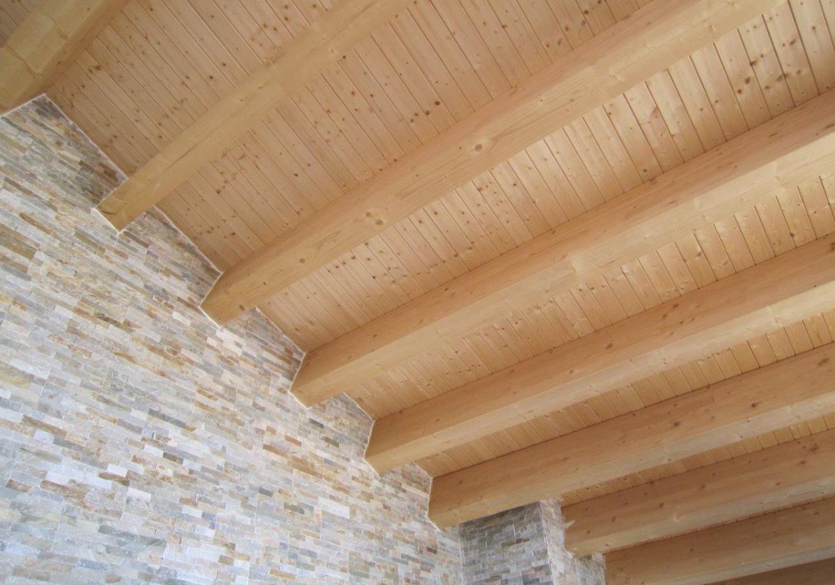 Tirafondo fijación panel sandwich madera cubierta ONDUTHERM - detalle fijación panel sandwich estructura madera