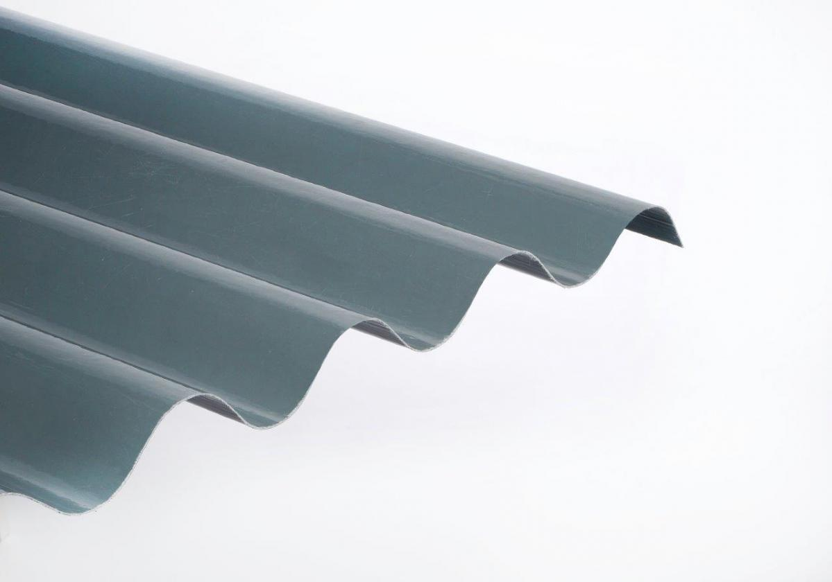 Placa Poliéster Ondulado Color Gris para Cubierta y Fachada