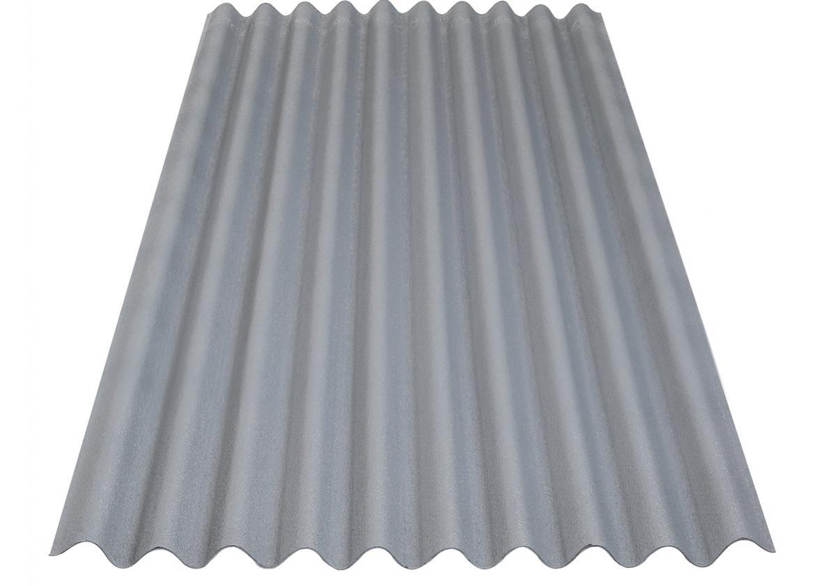 Placa asfáltica ondulada impermeable ONDUCOBER gris