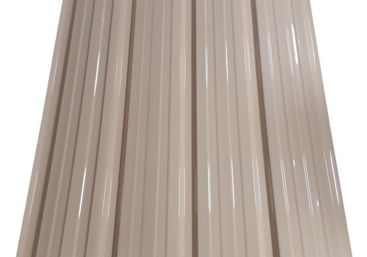 ONDUCLAIR PC Marfil Placa policarbonato trapezoidal marfil resistente al fuego