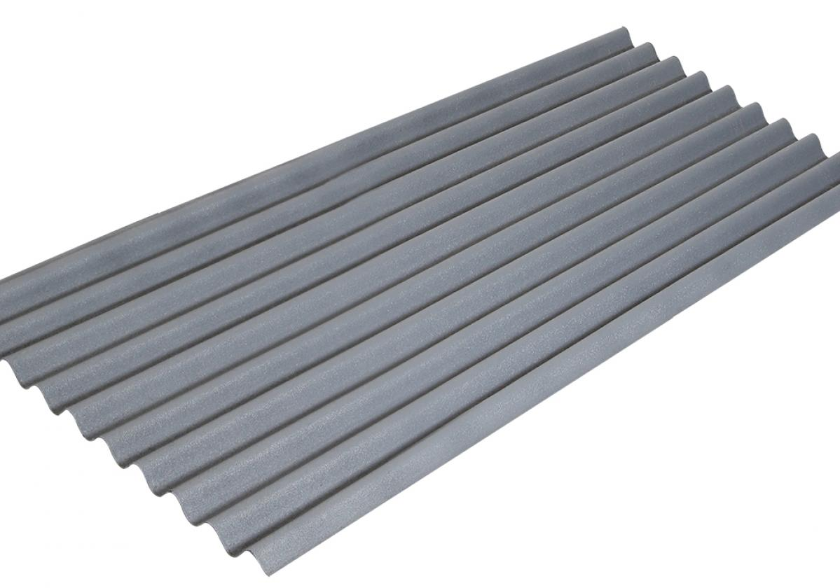 Placa bituminosa, ondulada e impermeable, ONDUCOBER color gris - vista perspectiva