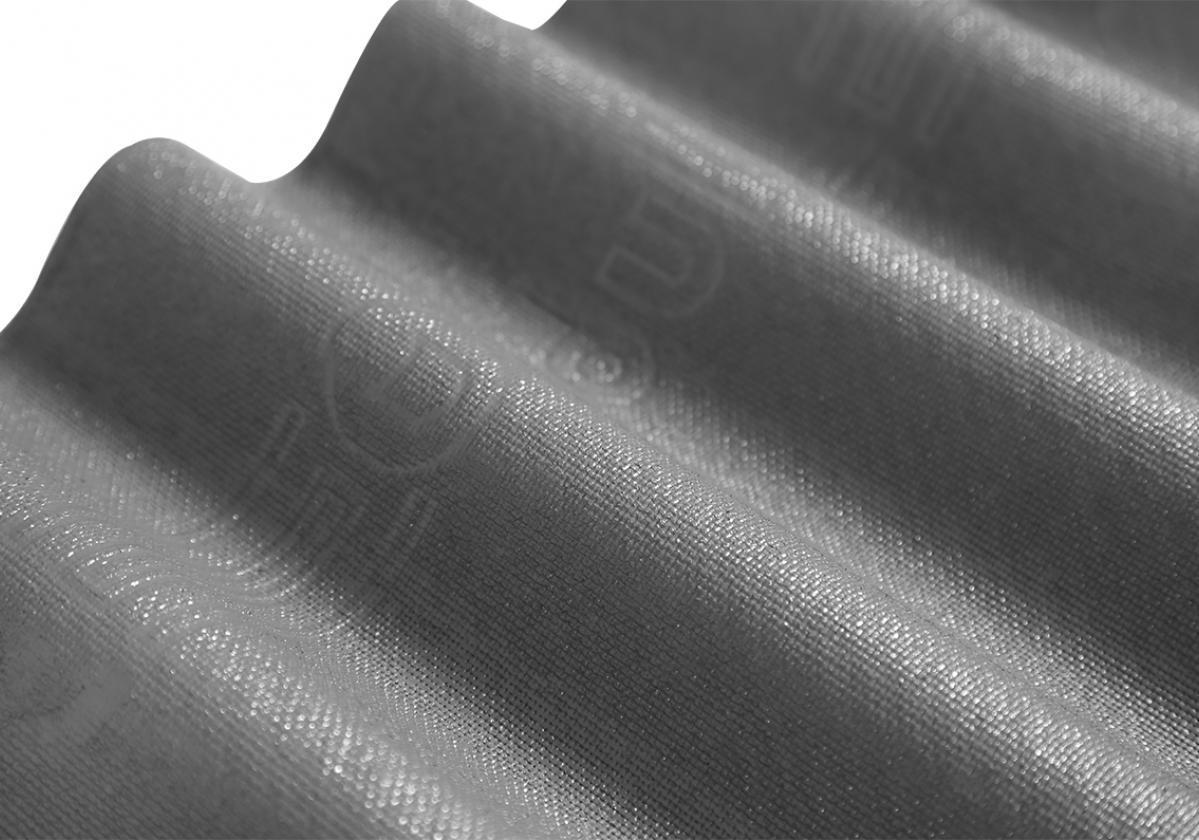 Placa bituminosa, ondulada e impermeable, ONDUCOBER color gris - vista solape