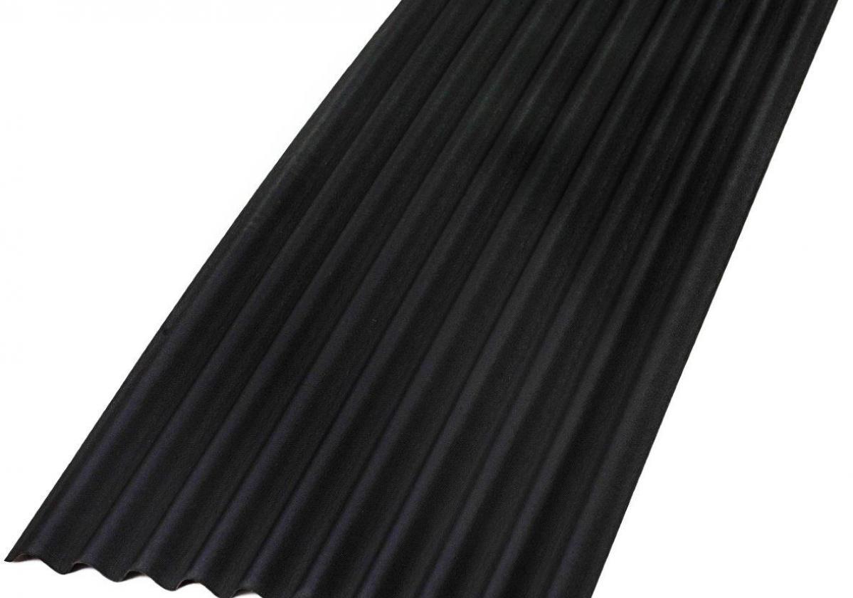 Placa bituminosa, ondulada e impermeable, ONDUCOBER color negro