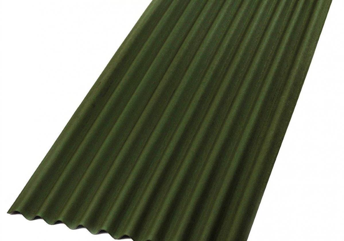 Placa bituminosa, ondulada e impermeable, ONDUCOBER color verde