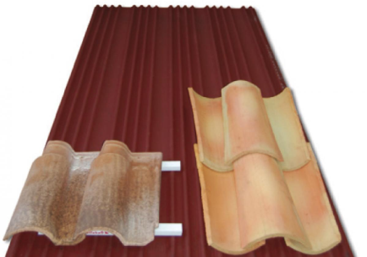 Placa bituminosas ondulada impermeable Onduline Bajo Teja DRS BT-150