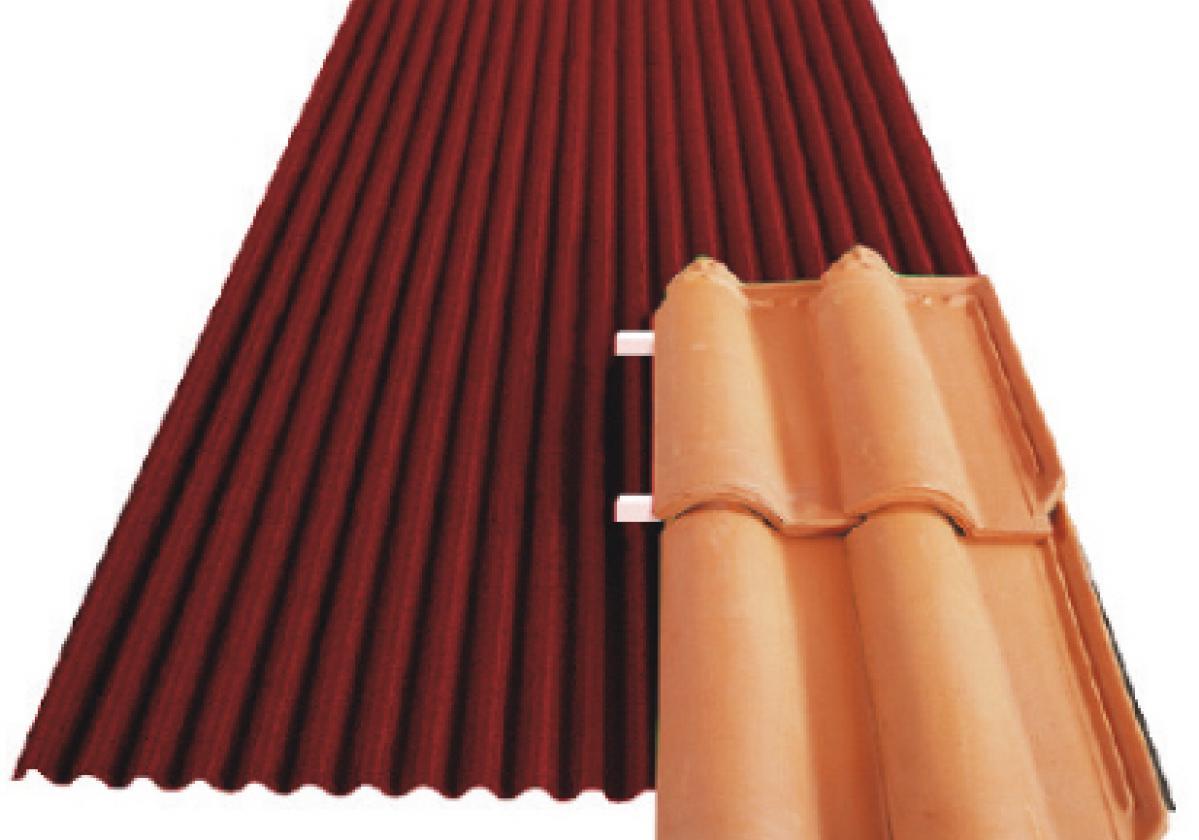 Placa bituminosa ondulada impermeable: Onduline Bajo Teja DRS BT-50