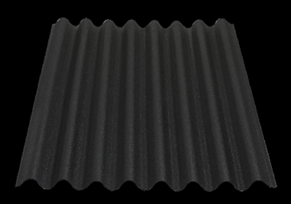 Placa bituminosa ondulada ONDULINE EASYLINE negro