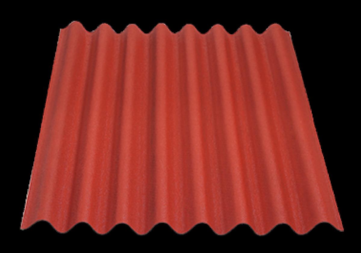 Placa bituminosa ondulada ONDULINE EASYLINE rojo intenso