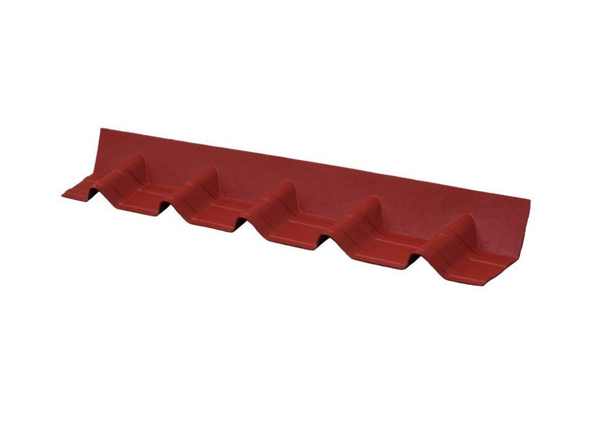 Remate de pendiente teja asfáltica ligera ONDUVILLA Rojo clásico