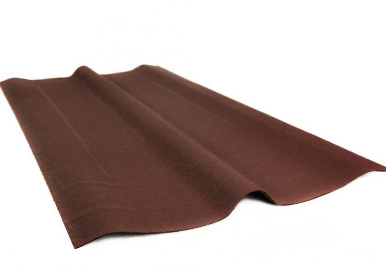 Cumbrera placa asfáltica ondulada impermeabilización cubierta ONDUCOBER - detalle cumbrera color rojo