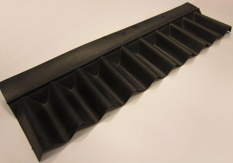 Remate pendiente placa asfáltica ondulada impermeable ONDUCOBER